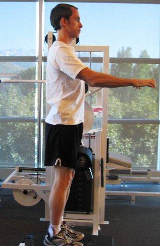 hip flexor machine leg down