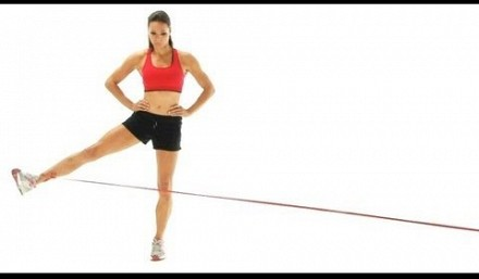Hip Flexor adductors resistance band